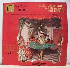 33T 25cm EMMANUEL CHABRIER Disque ESPANA -JOYEUSE MARCHE -BONNEAU CHAMPS ELYSEES