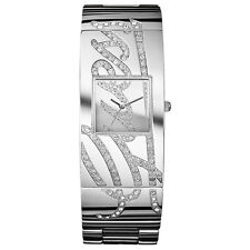 NEW GUESS WATCH for Women * Silver Tone AUTOGRAPH Bangle Bracelet * U13552L1