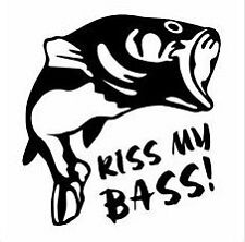 Kiss My Bass Vinyl Decal Sticker