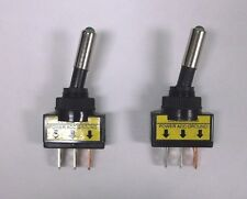 2 BBT Brand Lighted Green LED Panel Mount On/Off 20 amp Toggle Switches