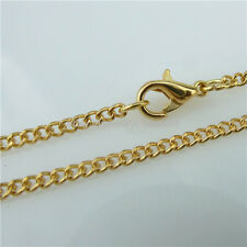 5PCS Golded Plated Jump Ring Lobster Clasp 2mm Chain Necklace Fit Jewelry Making