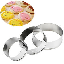 1Set Stainless Steel Round Circle Cookie Cutter Biscuit Pastry Molds Practice