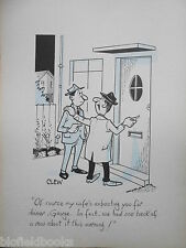"""CLIFFORD C LEWIS """"CLEW"""" Original Pen & Ink Cartoon - Guest for Dinner #120"""