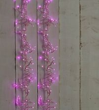 280 Light Christmas 4.45m PINK LED Cluster Indoor Outdoor Lights Decoration