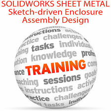 SolidWorks LAMIERA Enclosure ASSEMBLY Design-Video formazione tutorial DVD