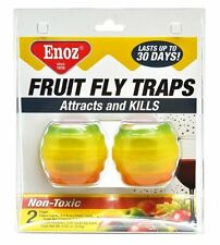 Enoz Fruit Fly Trap, Twin Pack