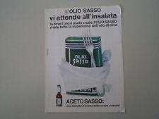 advertising Pubblicità 1965 OLIO SASSO