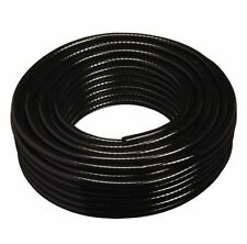 1M 6MM BORE BLACK PVC REINFORCED BRAIDED HOSE PIPE TUBE WATER OIL FUEL AIR