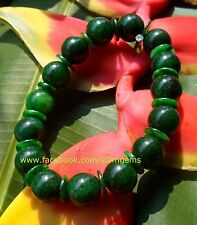 Chinese Maw Sit Sit Jade stretchy bracelet 10 mm beads 2.5-3.5+in wrist #S105