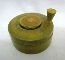 Antique Lacquer Colored Wooden Powder Making Machine Toy Old Wooden Mixing Toy