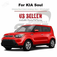 Chrome Door Catch Trim Molding Handle Tape On 9pc for KIA Soul 2014-2016 NEW