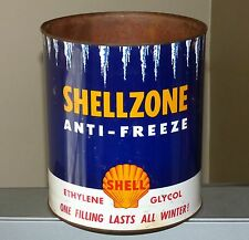 Canadian SHELLZONE 1 Imp Gal anti-freeze not motor oil tin can Shell FREE SHIP!