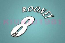 Manchester United Rooney #8 PREMIER LEAGUE 97-06 White Name/Number Set