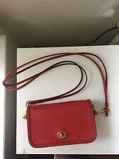 Authentic Coach Classic Collection penny crossbody bag vermillion