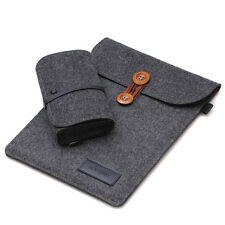 C Wool Felt Case Cover+Charger Bag for Microsoft Surface Pro 4/Pro 3 w/Keyboard