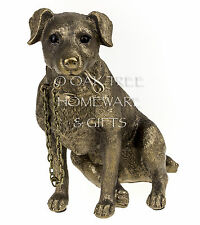 Jack Russell Terrier Statue Bronze Dog Ornament Dog Memorial Figurine Boxed