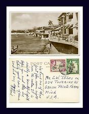 UK COLONIAL JAMAICA MONTEGO BAY REAL PHOTO MARCH 1953 TO GROSSE POINTE FARMS