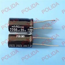 10PCS Electrolytic Capacitor Nichicon size: 16*25mm 2200UF35V / 35V2200UF