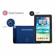 "9"" Quad Core Android 4.4 Tablet PC Bluetooth 8GB Dual Camera A7 WiFi BLUE"