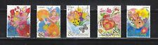 JAPAN 2010 SPRING GREETING 80 YEN COMP. SET OF 5 STAMPS IN FINE USED CONDITION