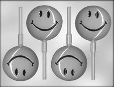 Smiley Face Lollipop Chocolate Candy Mold from CK 9823 - NEW