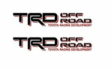 TOYOTA TRD OFF ROAD 4x4 Decals Stickers PAIR truck bedside laminated vinyl T2