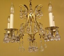 Vintage Lighting high quality Mid Century chandelier   Extraordinary Glass