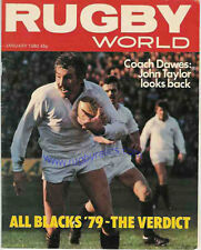 RUGBY WORLD MAGAZINE JANUARY 1980 - PERFECT GIFT FOR A FAN BORN IN THIS MONTH
