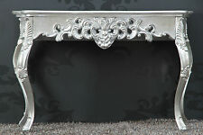 Console Wall side table SILVER Antique Finish luxurious magnificent Sideboard
