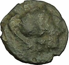 RARE Possibly Unpublished Authentic Ancient Greek Coin Athena Dolhins i40312