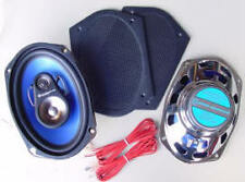 "200 Watt, 3-Way 6""x9"" Rear Speakers with Retro Black grills, Custom Autosound *b"