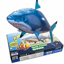 1x Air Swimmer Remote Control RC Flying Inflatable Fish Shark Blimp Balloon Gift