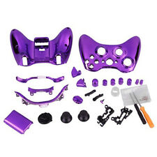 Chrome Purple Cover +Button Mod Kit For Xbox 360 Wireless Controller Gamepad