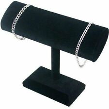 Black Velvet T-Bar 1 Tier OVAL Bracelet Jewelry Display(bx2291)