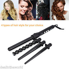 4 in 1 DIY Hair Curler Roller Removable Curling Iron Conical Curling Wand Set