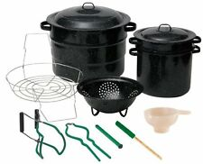Granite Ware 0719-1 Enamel-on-Steel Canning Kit with Blancher, (12-Piece)