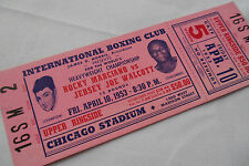 ROCKY MARCIANO vs JERSEY JOE WALCOTT 1953     Original    BOXING TICKET