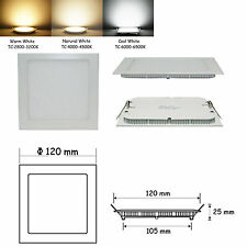 9W Square Non-Dimmable LED Recessed Ceiling Panel Lights Cool White T0113