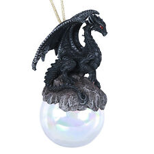 Checkmate Black Dragon Glass Ball Ornament by Ruth Thompson Tree Decor