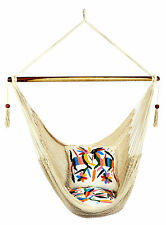 LARGE SIZE HANGING HAMMOCK CHAIR HANDMADE IN NATURAL FINISH FROM CENTRAL AMERICA