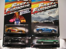 HOT WHEELS FAST & FURIOUS '94 SUPRA, BUICK GN, FORD GT-40, '72 GRAN TORINO
