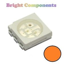 10 x Orange PLCC-6 LED (SMD SMT 5050) - Ultra Bright - UK - 1st CLASS POST