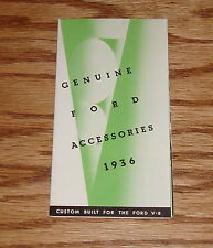 1936 Ford Approved Accessories Foldout Sales Brochure 36