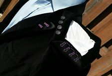 46L Black Purple Velvet Velour Shawl Lapel Blazer Smoking Jacket Satin Mens XL