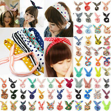 12pcs Lot Girls Rabbit Bunny Ear Wire Headband Hair Tie Cute Head Bow random 1