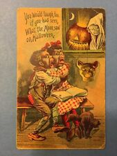 1912 Halloween Postcard - Black Americana - You Would Laugh too