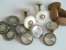 Vtg 30s KREMENTZ Link Art Deco Mother of Pearl CuffLinks Antique Lot 8