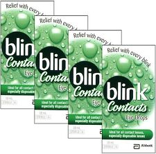 4x Abbott Blink Contacts Eye Drop 10mL (0.34 FL OZ) Ideal For All Contact Lenses