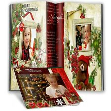 ALLY'S BEAUTIFUL CHRISTMAS PHOTO BOOK PSD TEMPLATES HOLIDAY - DIGITAL BACKGROUND