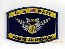 COMBAT AIR CREWMAN A/C WING HAT PATCH AIRCREW US NAVY VETERAN GIFT PIN UP USS